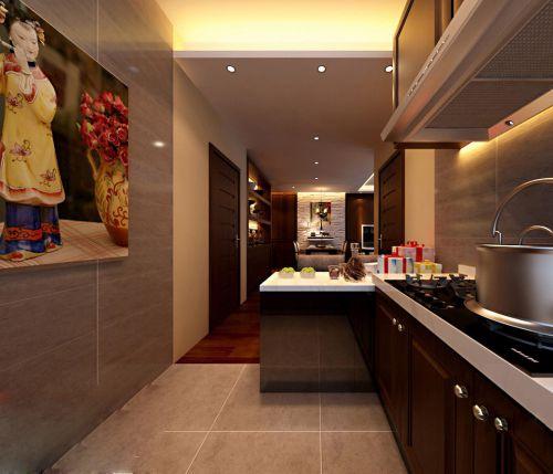 现代简约风格开放式厨房橱柜组合柜装修