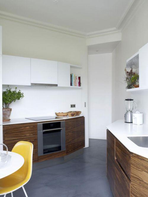 现代风格时尚公寓开放式厨房装修图