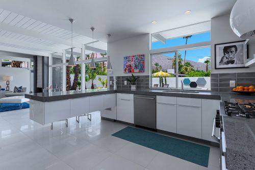 时尚休闲现代风格西式厨房设计实景图