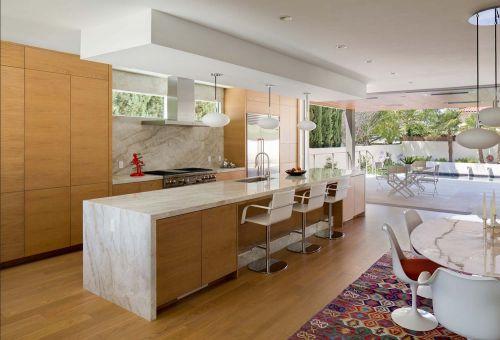 开放式现代风格厨房装修设计图