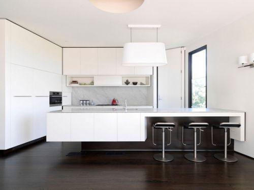 现代简约风格时尚小资厨房吧台设计图