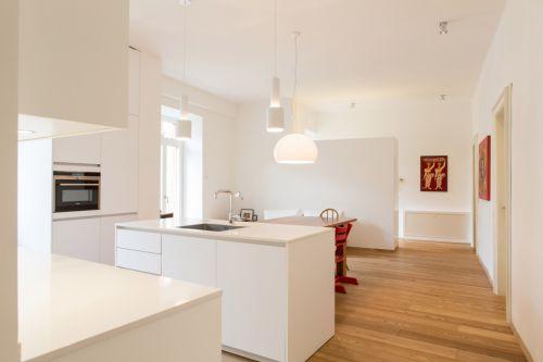 创意开放式现代风格厨房装修实景图