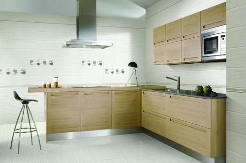 原木色现代简约厨房效果图