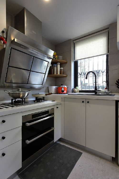 现代简约一居室厨房吊顶装修效果图欣赏