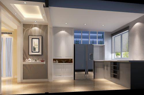 现代简约二居室厨房窗帘装修效果图大全