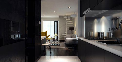 现代简约二居室厨房装修效果图大全