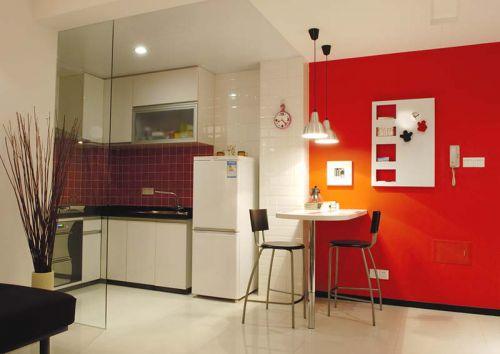 现代简约二居室厨房隔断装修效果图欣赏