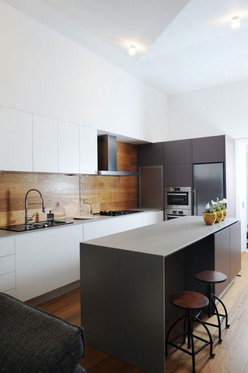 现代风格开放式厨房时尚吧台设计图