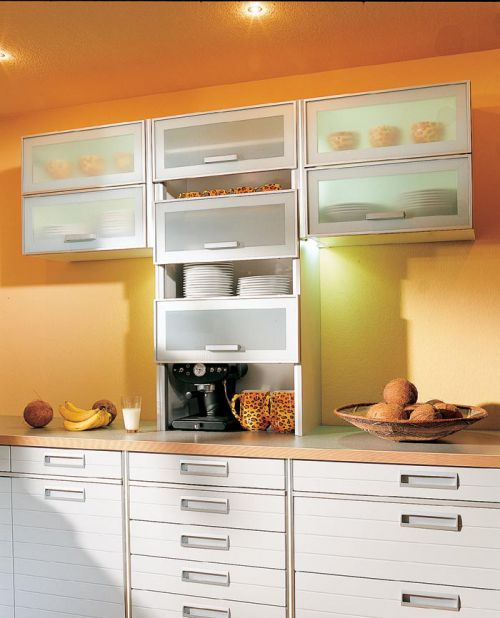 橙色温暖现代风格厨房装修效果图