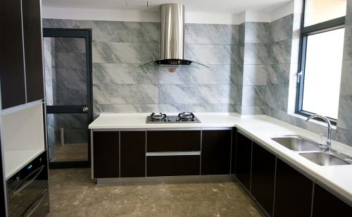 黑白大气时尚现代简约风格厨房装修效果图