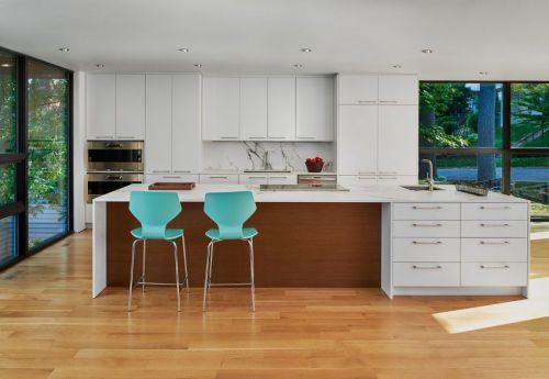 时尚现代风格休闲厨房吧台设计图片