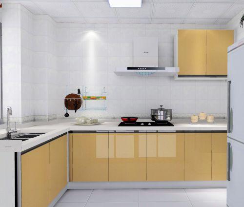 二居室黄色时尚现代简约风厨房装修效果图