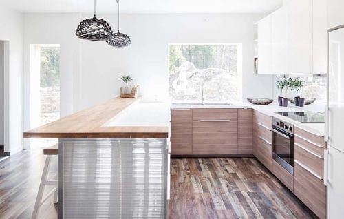 明亮干净现代风格厨房装修设计