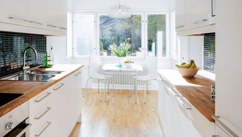 白色纯净现代风格厨房装修设计图