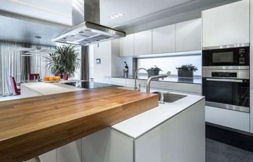 白色现代摩登厨房装修效果图