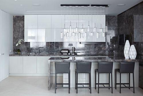 大气简洁现代风格厨房装修实景图