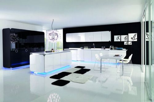 现代风格四居室厨房酒柜效果图