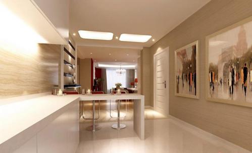 现代简约二居室厨房吊顶装修图片