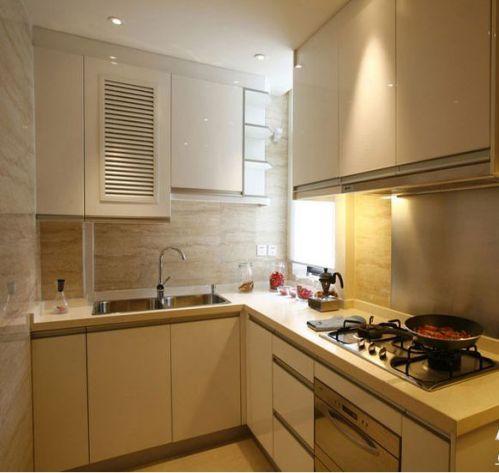 现代简约二居室厨房隔断装修效果图