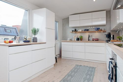 现代简约三居室厨房装修效果图欣赏