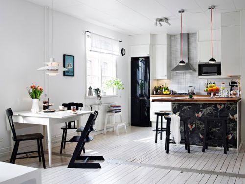 现代简约一居室厨房灯具装修效果图欣赏