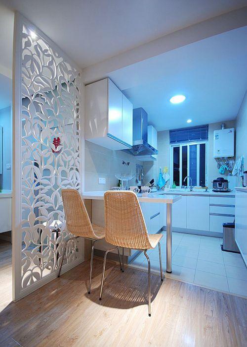 现代简约二居室厨房灯具装修图片