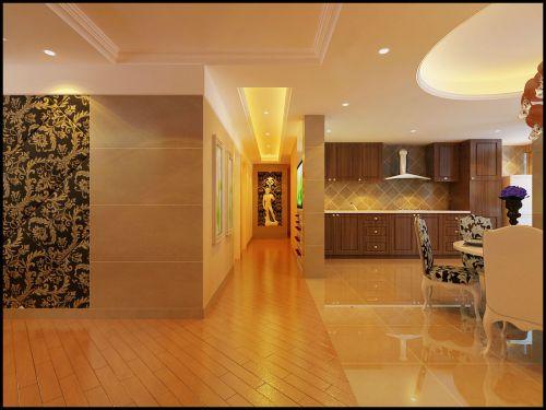现代简约三居室厨房吊顶装修效果图
