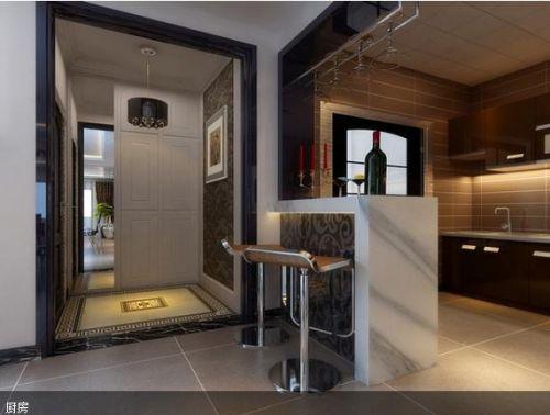 现代简约四居室厨房装修效果图