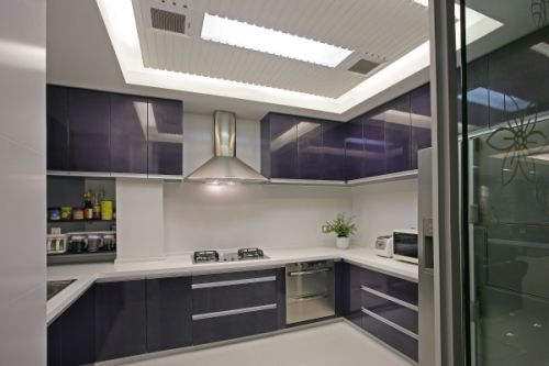 现代简约跃层厨房隔断装修效果图欣赏