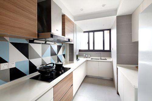 现代简约二居室厨房瓷砖装修效果图大全