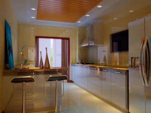 现代简约三居室厨房灯具装修效果图大全