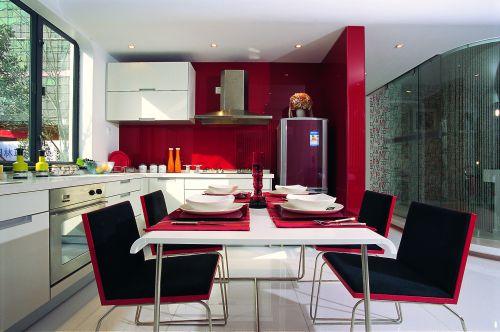 现代简约三居室厨房吊顶装修效果图欣赏