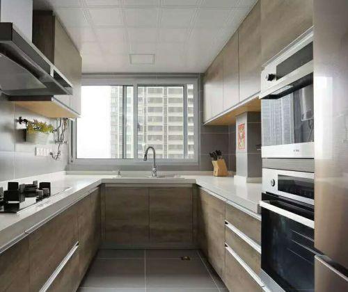 现代简约三居室厨房橱柜装修效果图欣赏