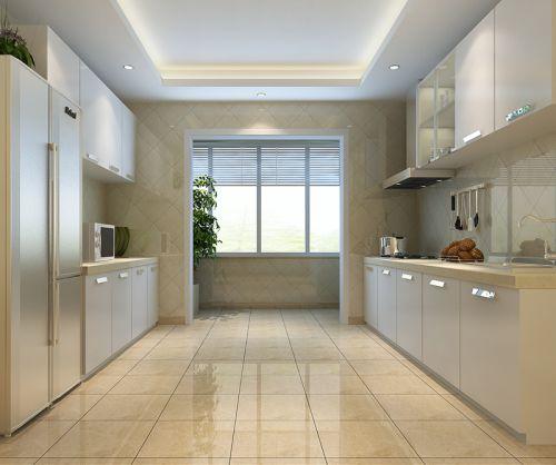 现代简约三居室厨房橱柜装修效果图