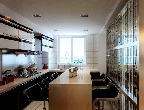 现代简约四居室厨房灯具装修图片