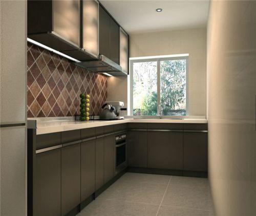 现代简约二居室厨房背景墙装修效果图欣赏