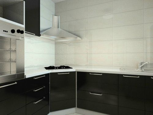 现代简约三居室厨房橱柜装修图片