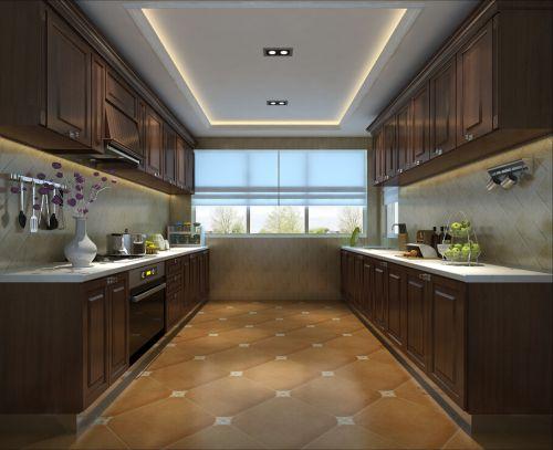 现代简中三居室厨房瓷砖装修图片