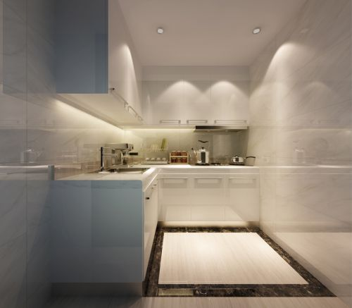 现代简约一居室厨房灯具装修效果图大全