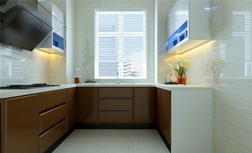 现代简约三居室厨房灯具装修图片