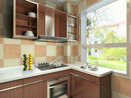 现代简约二居室厨房橱柜装修效果图