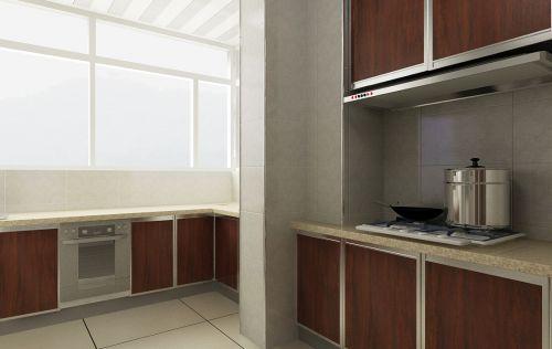 现代简约二居室厨房灶台装修图片