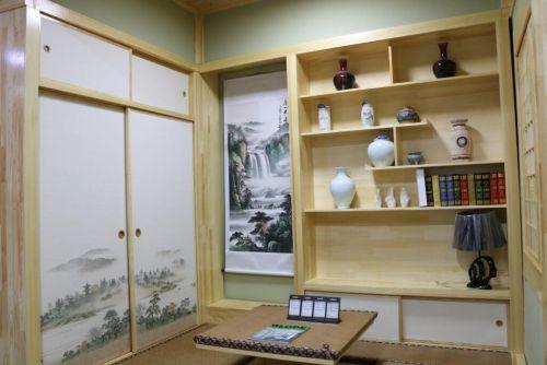 日式风格榻榻米装潢设计效果图经典黄色