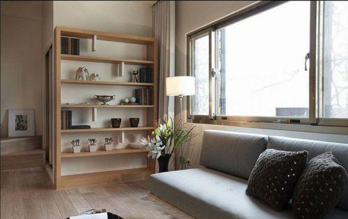 韩式风格二居室客厅飘窗装修效果图大全