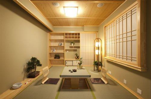 日式风格原木色客厅空间装修设计