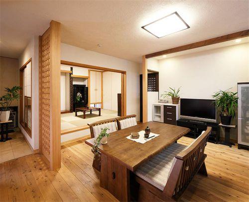 日式风格客厅小空间榻榻米装修图片