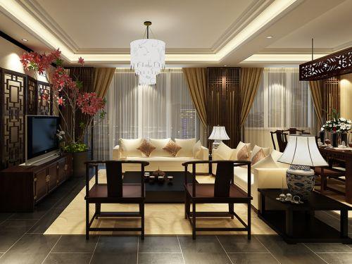 韩式风格三居室客厅沙发装修效果图欣赏