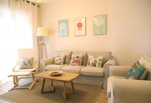 温暖日式MUJI风格清新小户型客厅设计图