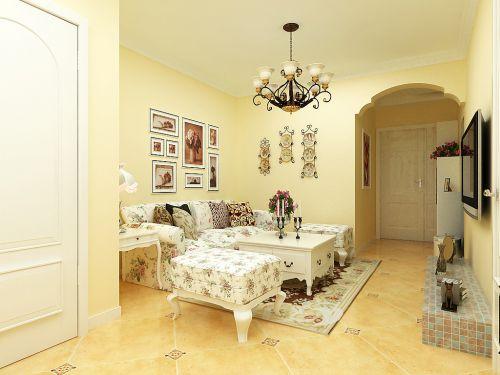 韩式风格二居室客厅照片墙装修效果图大全