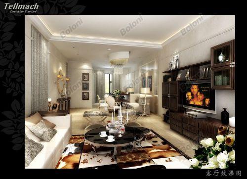 韩式风格四居室客厅装修效果图